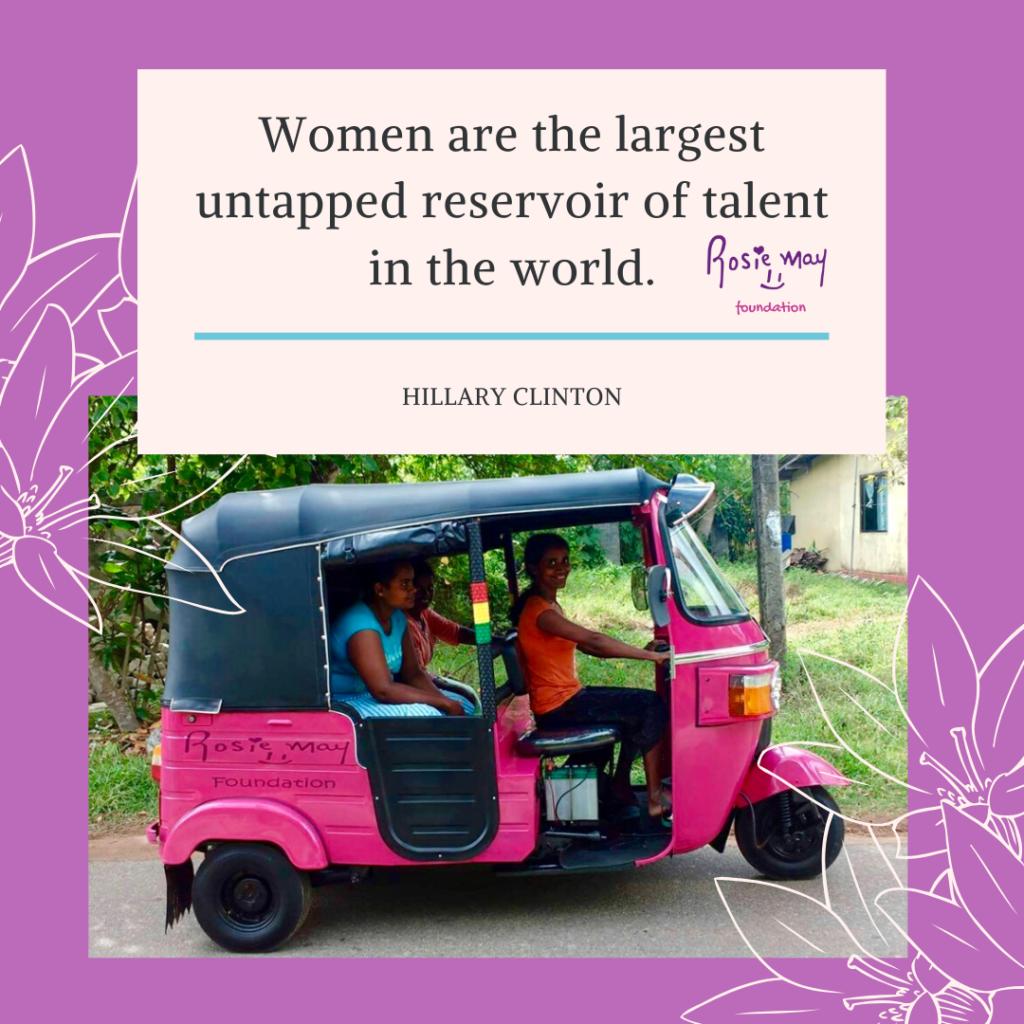 Think Pink Tuk Tuks founder Mary Storrie on Talk Travel Asia podcast. Pink Tuk Tuks in Sri Lanka! (courtesy of Mary Storrie)